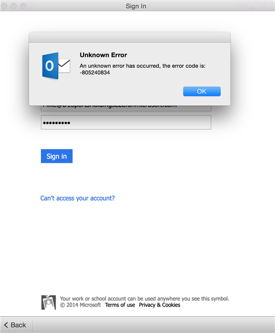 resolve mac office 2016 unkown error and activation issues